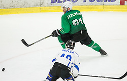 Zan Jezovsek of SZ Olimpija during ice hockey match between HK SZ Olimpija and WSV Sterzing Broncos Weihenstephan (ITA) in Round #12 of AHL - Alps Hockey League 2018/19, on October 30, 2018, in Hala Tivoli, Ljubljana, Slovenia. Photo by Vid Ponikvar / Sportida