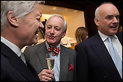 RICHARD KAY; NEIL HAMILTON; NICHOLAS COLERIDGE, Ralph Lauren host launch party for Nicky Haslam's book ' A Designer's Life' published by Jacqui Small. Ralph Lauren, 1 Bond St. London. 19 November 2014