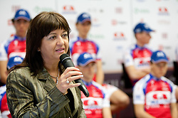 Mojca Novak, president of KK Adria Mobil at press conference of Pro Cycling Team Adria Mobil Novo mesto before new season, on March 8, 2011 at ACH, Ljubljana, Slovenia. (Photo By Vid Ponikvar / Sportida.com)