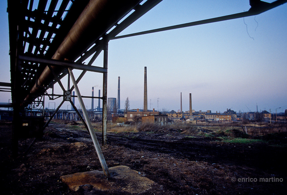 Chemical polluted factory near Erfurt.