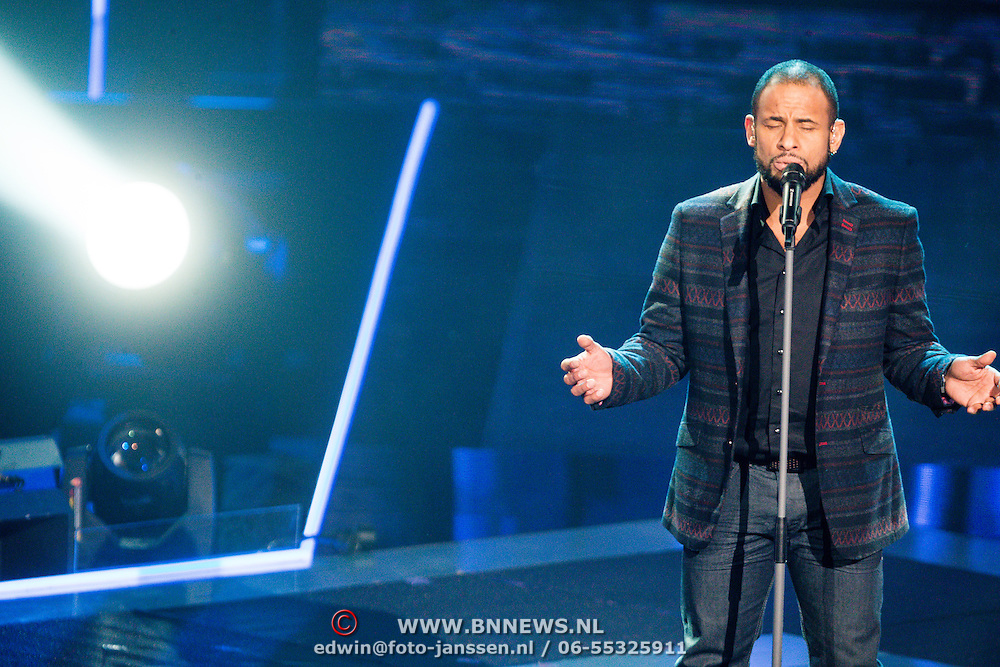 NLD/Hilversum/20131220 - Finale The Voice of Holland 2013, Mitchell Brunings