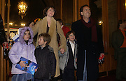 Robert Lindsay, Charlotte and their son Arthur on right,  Sam Hill and Charlotte Hill.The premiere for the new Cirque Du Soleil production, Alegria, at the Royal Albert Hall and party afterwards in the Kensington Roofgarden. London.  5 January 2006. ONE TIME USE ONLY - DO NOT ARCHIVE  © Copyright Photograph by Dafydd Jones 66 Stockwell Park Rd. London SW9 0DA Tel 020 7733 0108 www.dafjones.com