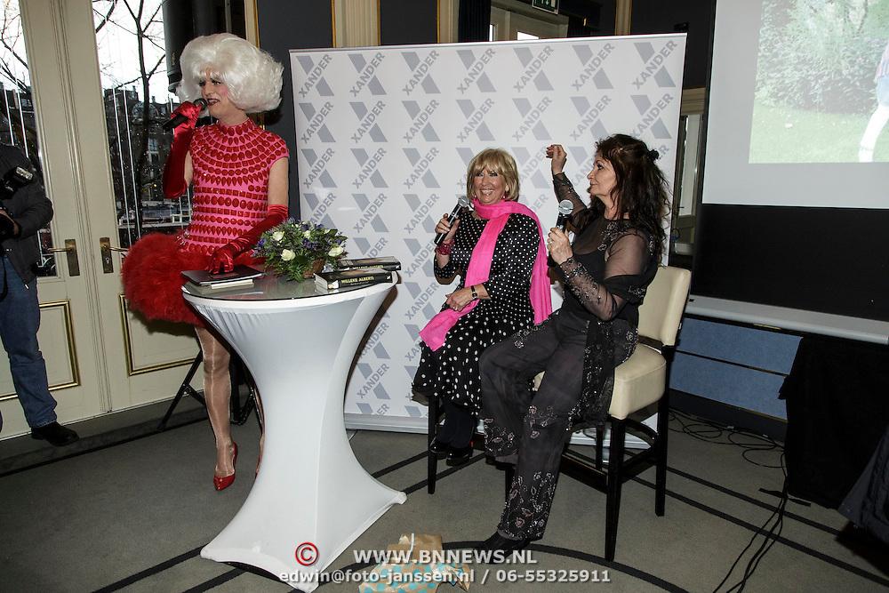 NLD/Amsterdam/20150128 - Boekpresentatie Willeke Alberti, Dolly Bellefleur, Willeke en Belinda Meuldijk