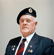 UK. Lichfield. Suez Veterans meet at the 50th Anniversary of the withdrawal from the Suez Canal in 1956. The event was held at the National Memorial Arboretum near Lichfield, UK. Photo shows former paratrooper Don Axon..Photo©Steve Forrest/Workers Photos.