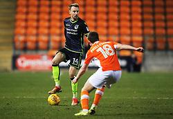 Chris Lines of Bristol Rovers takes on Daniel Philliskirk of Blackpool - Mandatory by-line: Matt McNulty/JMP - 13/01/2018 - FOOTBALL - Bloomfield Road - Blackpool, England - Blackpool v Bristol Rovers - Sky Bet League One