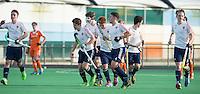 ROTTERDAM -   England scored  Practice Match Hockey : Netherlands Boys U18  v England U18 .  COPYRIGHT KOEN SUYK