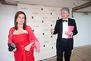 SARAH DAVENPORT; CHRISTOPHER DAVENPORT, Breast Cancer Haven 10th Anniversary Gala Event aboard Super Luxury Yacht Seabourn Sojourn. Off Canary Wharf. London. 5 June 2010. -DO NOT ARCHIVE-© Copyright Photograph by Dafydd Jones. 248 Clapham Rd. London SW9 0PZ. Tel 0207 820 0771. www.dafjones.com.