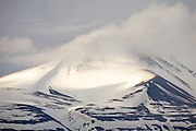 Cloud shrouded peak, Svalbard