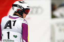 27.01.2015, Planai, Schladming, AUT, FIS Skiweltcup Alpin, Schladming, 2. Lauf, im Bild Henrik Kristoffersen (NOR) // Henrik Kristoffersen (NOR) during the second run of the men's slalom of Schladming FIS Ski Alpine World Cup at the Planai Course in Schladming, Austria on 2015/01/27, EXPA Pictures © 2015, PhotoCredit: EXPA/ Erwin Scheriau