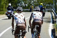 Matteo Montaguti / Alberto Betancur Gomez Carlos  -  Ag2r - 29.05.2015 - Tour d'Italie - Etape 19 :  Gravellona Toce / Cervinia<br />Photo : Sirotti / Icon Sport