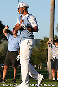 American actor and comedian Will Smith looks down the fairway during the Pro-Am event at The 2005 Sony Open In Hawaii. The event was held at The Waialae Country Club in Honolulu.