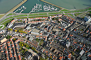 Nederland, Zeeland, Zeeuws-Vlaanderen, 19-10-2014; centrum Terneuzen met boven het midden de Noordstraat eindigend in een cirkelvormig plein.<br /> Downtown Terneuzen  with its mainstreet Noordstraat.<br /> luchtfoto (toeslag op standard tarieven);<br /> aerial photo (additional fee required);<br /> copyright foto/photo Siebe Swart
