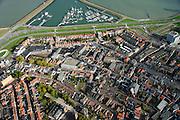 Nederland, Zeeland, Zeeuws-Vlaanderen, 19-10-2014; centrum Terneuzen met boven het midden de Noordstraat eindigend in een cirkelvormig plein.<br /> Downtown Terneuzen  with its mainstreet Noordstraat.<br /> luchtfoto (toeslag op standard tarieven);<br /> aerial photo (additional fee required);<br /> copyright foto/photo Siebe Swart