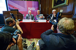 "© Licensed to London News Pictures. 17/06/2015. London, UK. UKIP leader NIGEL FARAGE delivers a speech with UKIP MEPs William Dartmouth and Steve Crowther to launch ""The Truth About Trade Beyond The EU"" pamphlet in central London, on Wednesday, June 17, 2015. Photo credit: Tolga Akmen/LNP"