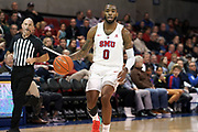 SMU Mustangs guard Tyson Jolly (0) bring the ball down against the Hartford Hawks during an NCAA college basketball game, Wednesday, Nov. 27, 2019, in Dallas.SMU defeated Hartford 90-58. (Wayne Gooden/Image of Sport)