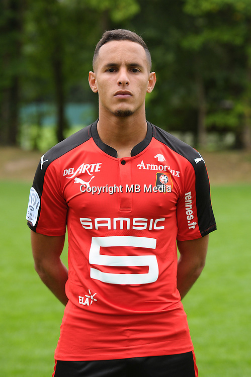 Mehdi Zeffane of Rennes during the presentation of the Stade Rennais Team on September 12, 2016 in Rennes, France. (Photo by Andre Ferreira/Icon Sport)