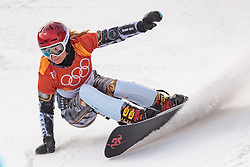 24.02.2018, Phoenix Snow Park, Bokwang, KOR, PyeongChang 2018, Snowboard, Herren, Parallel Riesenslalom, im Bild Ester Ledecka (CZE) // Ester Ledecka of Czech Republic during the men's Snowboard Parallel Riesenslalom, qualification of the Pyeongchang 2018 Winter Olympic Games at the Phoenix Snow Park in Bokwang, South Korea on 2018/02/24. EXPA Pictures © 2018, PhotoCredit: EXPA/ Johann Groder