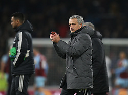 Manchester United manager Jose Mourinho applauds the fans at the final whistle - Mandatory by-line: Jack Phillips/JMP - 20/01/2018 - FOOTBALL - Turf Moor - Burnley, England - Burnley v Manchester United - English Premier League