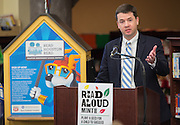 Andrew Houlihan comments during a news conference at Walnut Bend Elementary School launching Read Aloud Month, March 1, 2016.