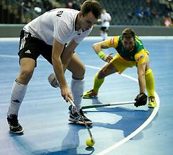 BERLIN - Indoor Hockey World Cup<br /> Men: Russia - South Africa<br /> foto: AGAFONTSEV Aleksandr.<br /> COPYRIGHT WILLEM VERNES