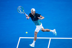 January 23, 2019 - Melbourne, VIC, U.S. - MELBOURNE, VIC - JANUARY 23: LUCAS POUILLE (FRA) during day ten match of the 2019 Australian Open on January 23, 2019 at Melbourne Park Tennis Centre Melbourne, Australia (Photo by Chaz Niell/Icon Sportswire (Credit Image: © Chaz Niell/Icon SMI via ZUMA Press)