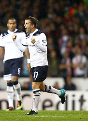 29.09.2010, Withe harde Lane, London, ENG, UEFA CL, Tottenham vs FC Twente, im Bild Tottenham's Rafeal Van der Vaar celebrates  spurs 1st goal. .Tottenham Hotspur v FC Twente, Group A, of the UCL ( Uefa Champions League Group stages).at White Hart Lane in London. EXPA Pictures © 2010, PhotoCredit: EXPA/ IPS/ Kieran Galvin +++++ ATTENTION - OUT OF ENGLAND/UK +++++