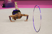 Katrin Taseva, Bulgaria, during the 33rd European Rhythmic Gymnastics Championships at Papp Laszlo Budapest Sports Arena, Budapest, Hungary on 21 May 2017. Photo by Myriam Cawston.