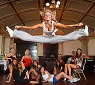 05:06:2010.Miss Scotland finalists - training weekend.. A 'Fame' moment with Deonne Robertson as thr rest of the girls chill out during a break...Pic:Andy Barr.07974 923919  (mobile).andy_snap@mac.com.All pictures copyright Andrew Barr Photography. .Please contact before any syndication. .