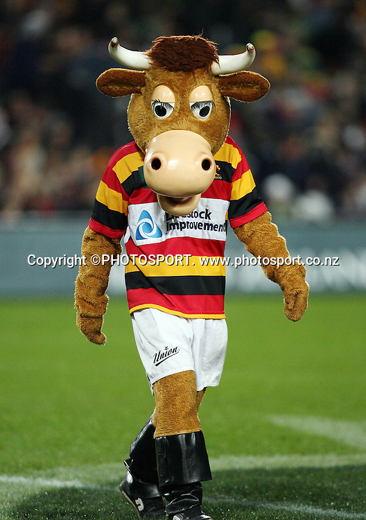 Waikato's mascot during the Air New Zealand Cup week 3 rugby union match between Waikato and Canterbury at Waikato Stadium in Hamilton, New Zealand on Friday 11 August 2006. Waikato won the match 36 - 22. Photo: Kevin Booth/PHOTOSPORT<br />