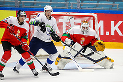 Bence Sziranyi of Hungary, Tadej Cimzar of Slovenia and Bence Balizs of Hungary during ice hockey match between Hunngary and Kazakhstan at IIHF World Championship DIV. I Group A Kazakhstan 2019, on May 3, 2019 in Barys Arena, Nur-Sultan, Kazakhstan. Photo by Matic Klansek Velej / Sportida