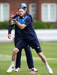 England's Ben Stokes during the nets session at Lord's, London.
