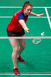Debora Jille in action during the Dutch Championships Badminton on February 2, 2020 in Topsporthal Almere, Netherlands