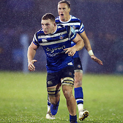 Sam Underhill of Bath Rugby during the Gallagher Premiership match between Bath Rugby and Sale Sharks at the The Recreation Ground Bath England.2nd December 2018,(Photo by Steve Haag Sports)
