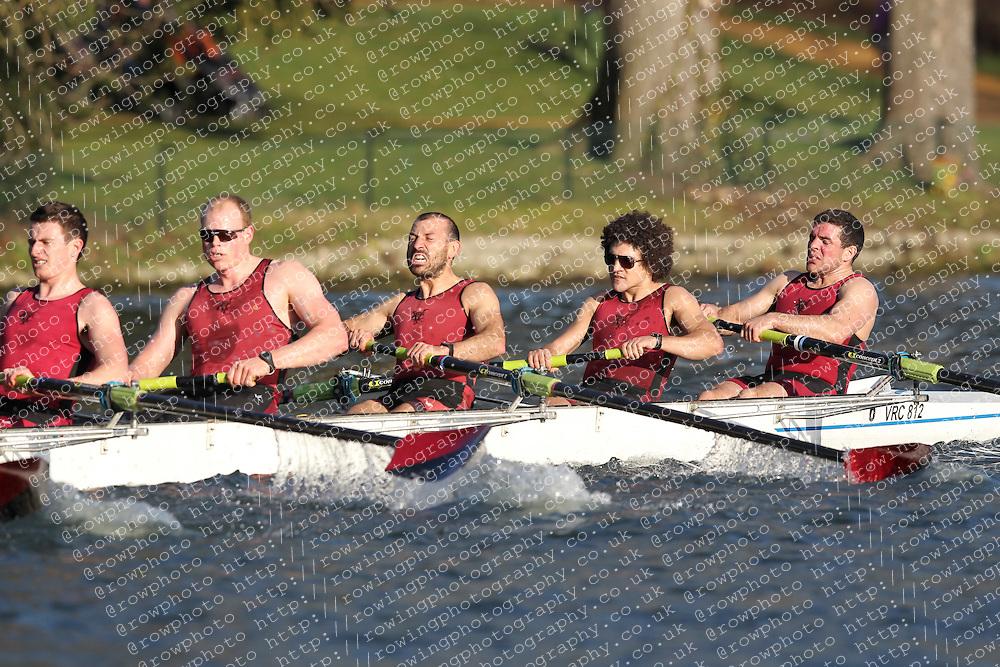 2012.02.25 Reading University Head 2012. The River Thames. Division 2. Vesta Rowing Club IM2 8+