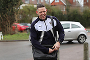 AFC Wimbledon goalkeeping coach Ashley Bayes arriving during the EFL Sky Bet League 1 match between AFC Wimbledon and Northampton Town at the Cherry Red Records Stadium, Kingston, England on 10 February 2018. Picture by Matthew Redman.