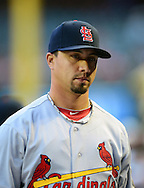 May. 7, 2012; Phoenix, AZ, USA; St. Louis Cardinals pitcher Kyle Lohse (26) during the game against the Arizona Diamondbacks at Chase Field. The Cardinals defeated the Diamondbacks 9-6. Mandatory Credit: Jennifer Stewart-US PRESSWIRE.