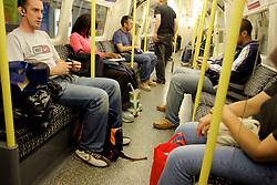 UK ENGLAND LONDON 28JUL05 - Passengers on the London underground carry more plastic bags than rucksacks following two terrorist attacks in the past three weeks...jre/Photo by Jiri Rezac ..© Jiri Rezac 2005..Contact: +44 (0) 7050 110 417.Mobile:  +44 (0) 7801 337 683.Office:  +44 (0) 20 8968 9635..Email:   jiri@jirirezac.com.Web:    www.jirirezac.com..© All images Jiri Rezac 2005 - All rights reserved.