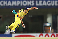 Mohit Sharma of Chennai Super Kings sends down a delivery during match 3 of the Karbonn Smart Champions League T20 (CLT20) 2013  between The Chennai Superkings and the Titans held at the JSCA International Cricket Stadium, Ranchi on the 22nd September 2013<br /> <br /> Photo by Shaun Roy-CLT20-SPORTZPICS  <br /> <br /> Use of this image is subject to the terms and conditions as outlined by the CLT20. These terms can be found by following this link:<br /> <br /> http://sportzpics.photoshelter.com/image/I0000NmDchxxGVv4