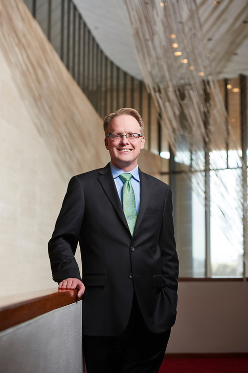 19-year veteran arts administrator John Mangum took the role of Executive Director & CEO of the Houston Symphony in January 2018. Previously Mr. Mangum served as president and artistic director of the Philharmonic Society of Orange County in Irvine, California. He has also served as director of artistic planning for the San Francisco Symphony from 2011 to 2014 and in a similar role at the New York Philharmonic from 2009 to 2011. This portrait was created at Jones Hall, the performance home for Houston Symphony.