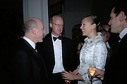 Melvyn Kirtley, Fred Gotzen, Yelena Duncan and Kim Duncan. The Royal Academy Schools dinner and auction. Royal Academy. London. 27 March 2007.  -DO NOT ARCHIVE-© Copyright Photograph by Dafydd Jones. 248 Clapham Rd. London SW9 0PZ. Tel 0207 820 0771. www.dafjones.com.