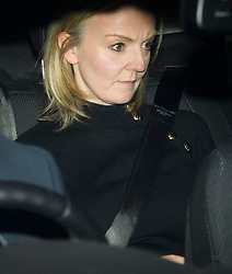 © Licensed to London News Pictures. 12/12/2018. London, UK. LIZ TRUSS seen leaving the Houses of Parliament in Westminster after PM Theresa May faced a vote of confidence from her own party. Photo credit: Ben Cawthra/LNP