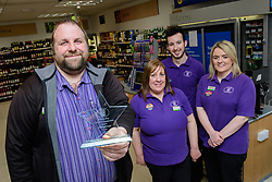 Lincolnshire Co-operative's Celebrating Success Evening winners.  Skellingthorpe food store were winners of the Outstanding Customer Engagement Award.  Pictured is, from left, manager James Bensley, Debbie Hammond, Scott Dyer and Niaomi Dixon.<br /> <br /> Picture: Chris Vaughan Photography for Lincolnshire Co-op<br /> Date: April 24, 2017