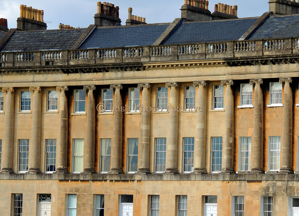 The Royal Crescent is a street of 30 terraced houses laid out in a sweeping crescent in the city of Bath, England. Designed by the architect John Wood the Younger and built between 1767 and 1774, it is among the greatest examples of Georgian architecture to be found in the United Kingdom and is a Grade I listed building