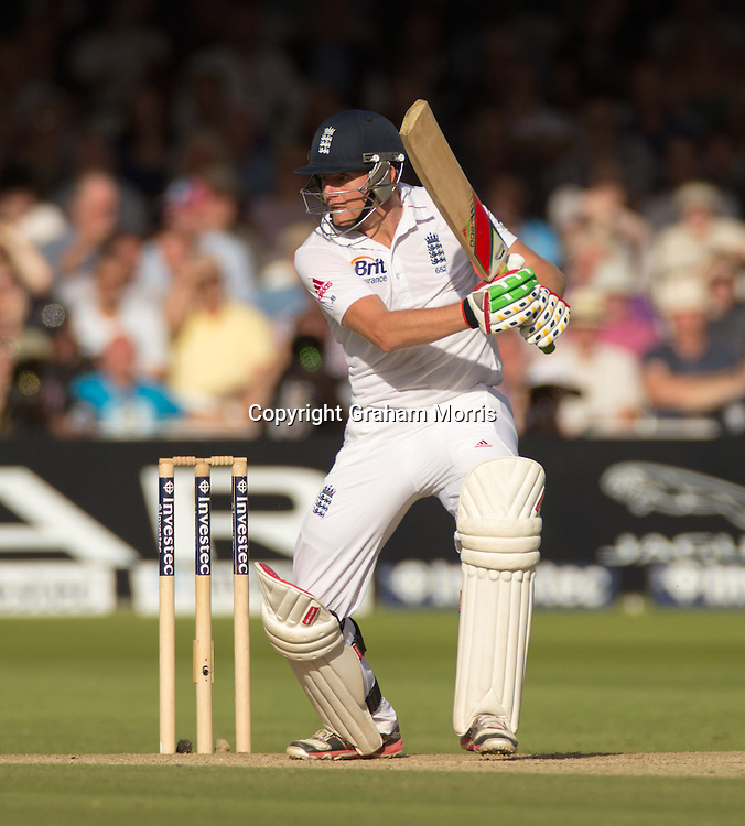Jonny Bairstow bats during the third and final Investec Test Match between England and South Africa at Lord's Cricket Ground, London. Photo: Graham Morris (Tel: +44(0)20 8969 4192 Email: sales@cricketpix.com) 17/08/12