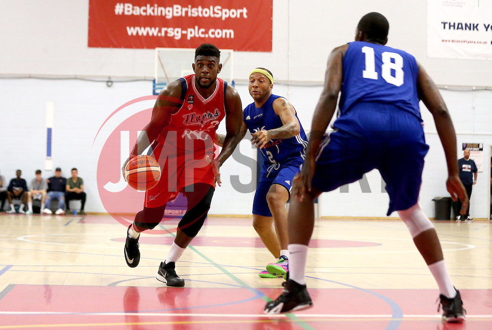 Leslee Smith of Bristol Flyers runs with the ball - Mandatory by-line: Robbie Stephenson/JMP - 08/09/2016 - BASKETBALL - SGS Arena - Bristol, England - Bristol Flyers v USA Select - Preseason Friendly