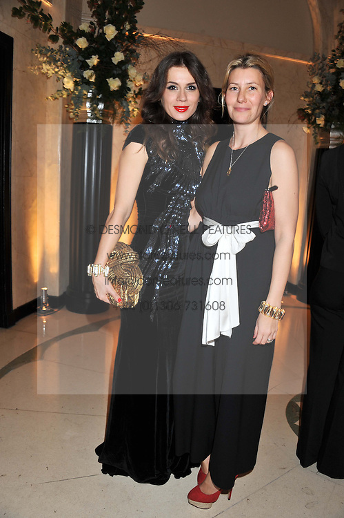Left to right, LARA BOHINC and SARA PARKER BOWLES at a dinner and dance hosted by Leon Max for the charity Too Many Women in support of Breakthrough Breast Cancer held at Claridges, Brook Street, London on 1st December 2011.
