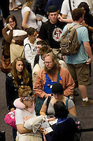 SAN FRANCISCO, CA - JULY 3 :  People go through extra security at the San Francisco International Airport on July 3, 2007 in San Francisco, California. Security threat level was raised to orange as the nation gets ready for the Fourth of July holiday. (Photograph by David Paul Morris)