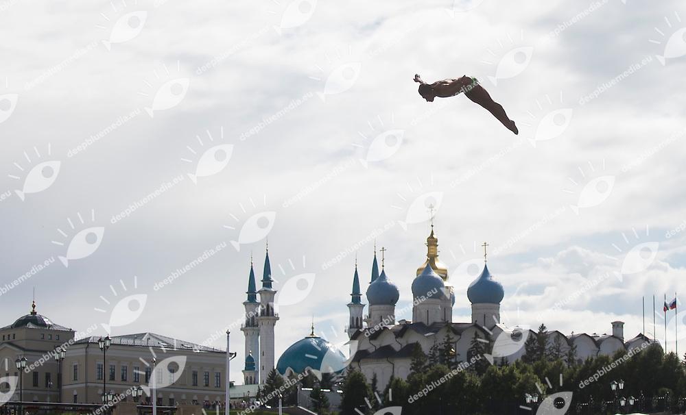 Diver<br /> High Diving - Men's 27m final<br /> Day 13 05/08/2015<br /> XVI FINA World Championships Aquatics Swimming<br /> Kazan Tatarstan RUS July 24 - Aug. 9 2015 <br /> Photo Giorgio Perottino/Deepbluemedia/Insidefoto