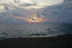 """© Licensed to London News Pictures. 01/06/2008. Phu Quoc Island, FILE PHOTO : A picture shows the sun setting over the sea near a beach on Phu Quoc Island in Vietnam on 1 June 2008. A naval officer has today (08.03.2014) been quoted saying """"We have asked boats from Phu Quoc island to be prepared for rescue"""" after Malaysian airlines flight MH370 went missing with 227 passengers on board. . Photo credit : /LNP"""