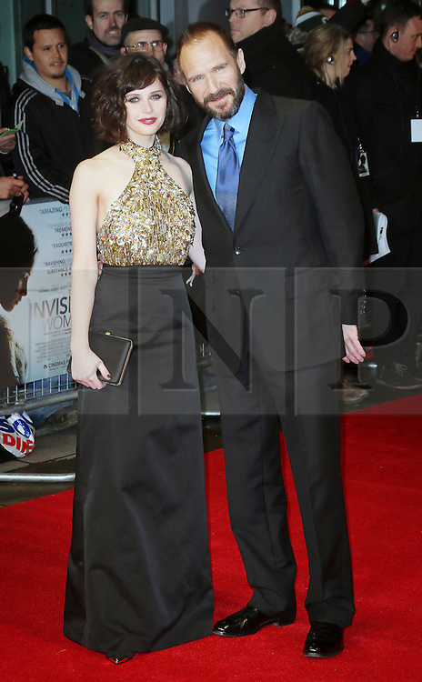 © London News Pictures. Felicity Jones; Ralph Fiennes, The Invisible Woman - UK film premiere, Odeon Kensington High Street, London UK, 27 January 2014. Photo credit: Richard Goldschmidt/LNP